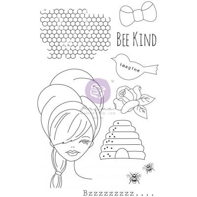 Prima Marketing Julie Nutting Cling Stamps - Doll Stamp Miss Bea