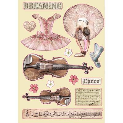 Stamperia Wooden Shapes - Violin And Dance