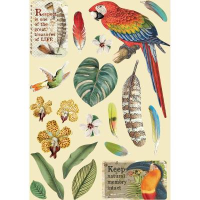 Stamperia Wooden Shapes - Parrot