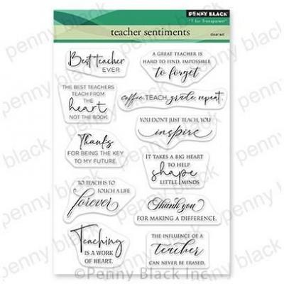 Penny Black Clear Stamps - Teacher Sentiments