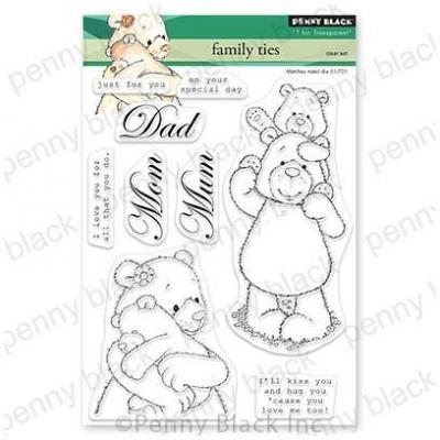 Penny Black Clear Stamps - Family Ties