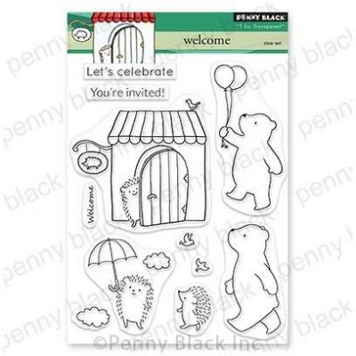 Penny Black Clear Stamps - Welcome