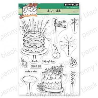 Penny Black Clear Stamps - Delectable
