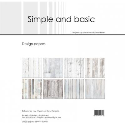 Simple and Basic Paper Pad Designpapier - Basic White Wood