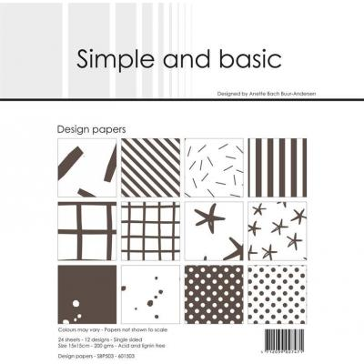 Simple and Basic Paper Pad Designpapier - Basic Warm Grey