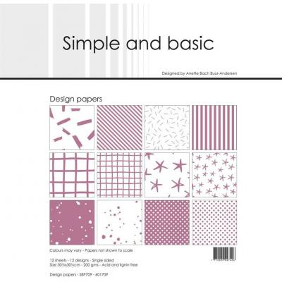 Simple and Basic Paper Pad Designpapier - Basic Old Rose