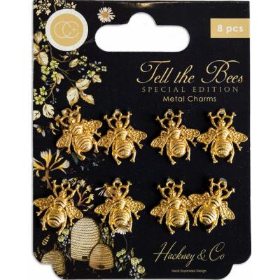 Craft Consortium Tell The Bees Special Edition Metal Charms - Gold Bees
