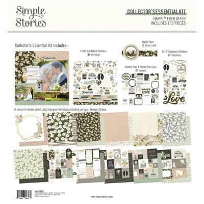 Simple Stories Happily Ever After Designpapier - Collector's Essential Kit