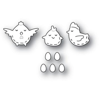 Poppystamps Metal Dies - Whittle Chickens
