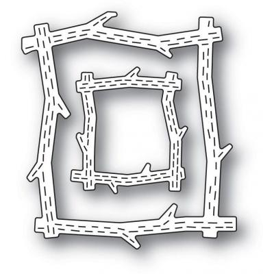 Poppystamps Metal Dies - Whittle Wood Picture Frames