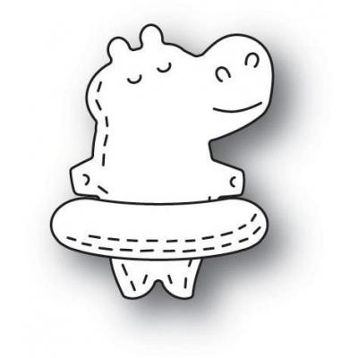 Poppystamps Metal Dies -  Whittle Floating Hippo