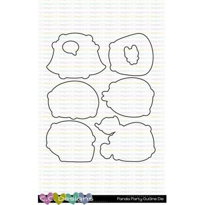 C.C. Designs Outline Metal Die - Panda Party