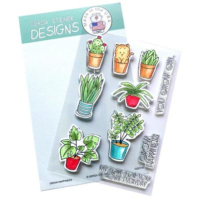 Gerda Steiner Clear Stamps - Grow Happiness