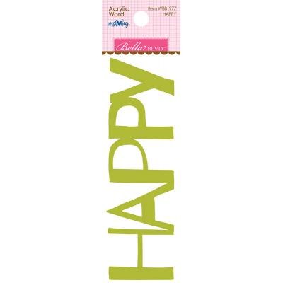 Bella BLVD Cooper Embellishment Acrylic Words - Happy