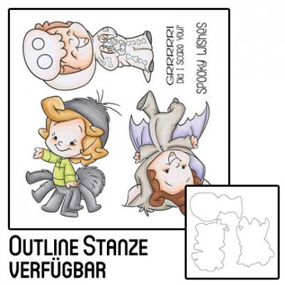 Stempel, Outline Die und Kombi-Set: Roberto's Rascals Creepy Crawlies