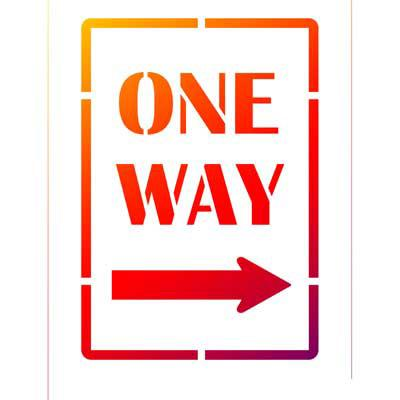 One Way - Universelle DIN A5 Schablonen