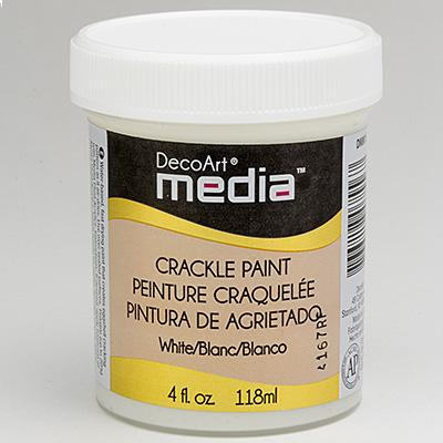 Mixed Media Crackle Paint Weiß