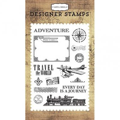 Carta Bella  Clear Stamps - Transatlantic Travel - Travel the World
