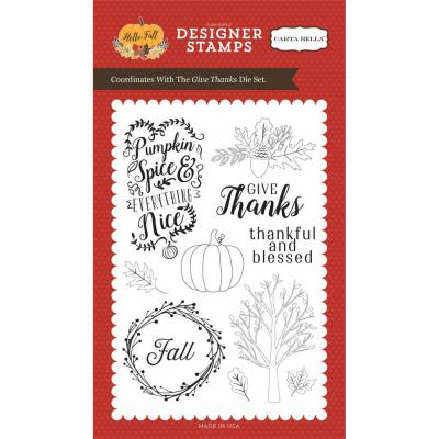 Carta Bella Clear Stamps - Hello Fall - Give Thanks