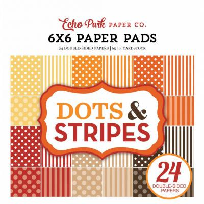 6x6'' Paper Pad Dots & Stripes Fall