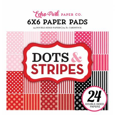 Echo Park Valentine Dots & Stripes 6 x 6