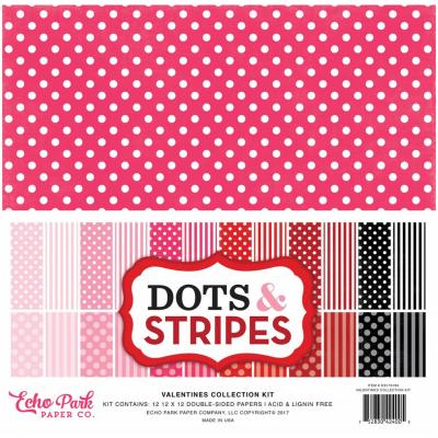 Echo Park Valentine Dots & Stripes 12 x 12