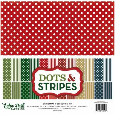 Echo Park Christmas Dots & Stripes 12 x 12