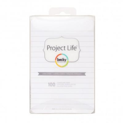 Project life lined journaling cards 10,2x15,2cm