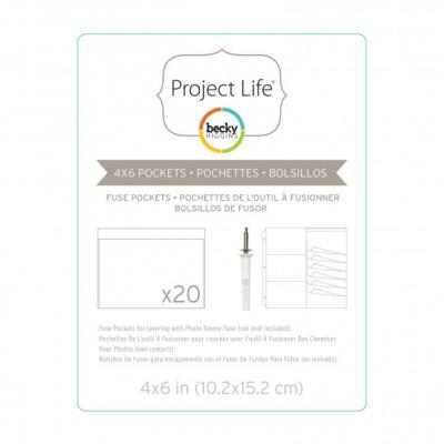 Project life fuse pockets 10,2x15,2cm x20