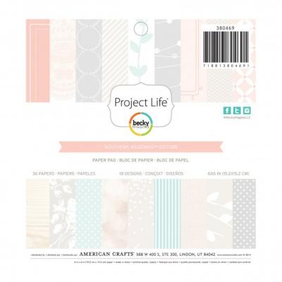 Project life paper pad 15,2x15,2cm 18x2pc southern weddings