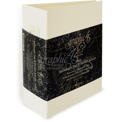 Graphic 45 - Rectangle Tag & Pocket Album - Ivory