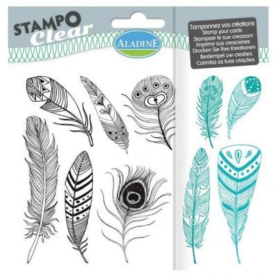Aladine Clear Stamps - Feathers