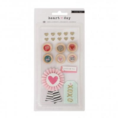 Crate Paper Heart Day Embellishment
