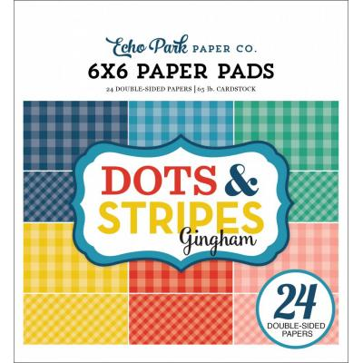 Echo Park Summer Gingham Dots & Stripes 6x6 inch