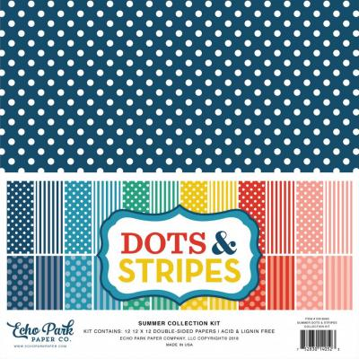Echo Park Summer Dots & Stripes 12x12 inch