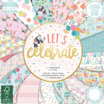 First Edition Let's Celebrate 6x6 Inch Paper Pad