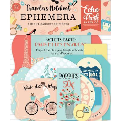 Echo Park Travelers Notebook Ephemera Pack Metropolitan Girl