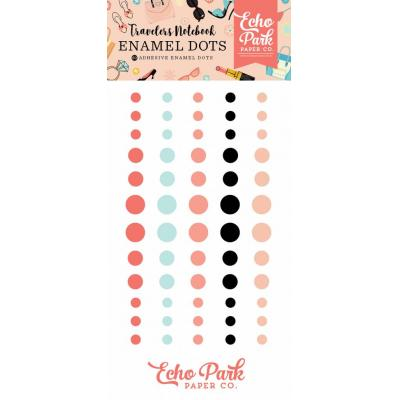 Echo Park Travelers Notebook Enamel Dots Metropolitan Girl