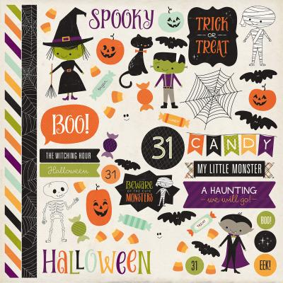 Echo Park Halloween Town - Stickerbogen