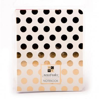 DCWV Notebook Planner - Gold Dots