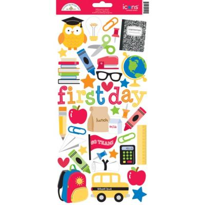Doodlebugs Back to School - Icon Sticker