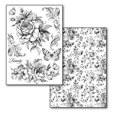 Stamperia Transfer Paper Roses and Butterflies