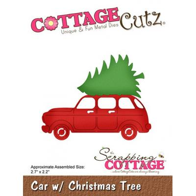 Cottage Cutz - Car with Christmas Tree