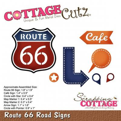 Cottage Cutz - Route 66 Road Signs