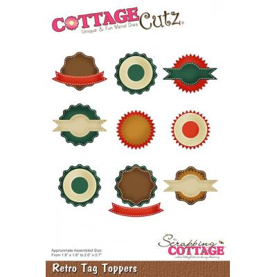 Cottage Cutz - Retro Tag Toppers