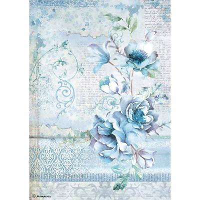 Stamperia Rice Paper A4 Blue Land Window