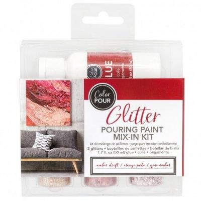 American Crafts Color Pouring - Glitterfarbe Amber
