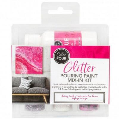 American Crafts Color Pouring - Glitterfarbe Berry
