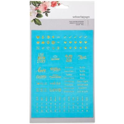 Websters Pages Sticker - Teal Words