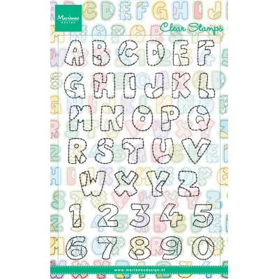 Marianne Design Clear Stamps - Patchwork Alphabet